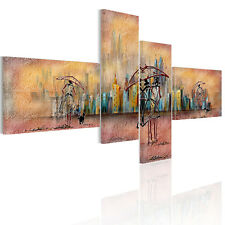 HD Canvas Prints Home Decor Wall Art Painting-Abstract City In Rain Unframed#A03