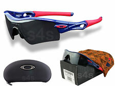 Oakley Radar Path Braves Occhiali Da Sole Lucido Blu _ RED _ BLACK IRIDIUM 09-782