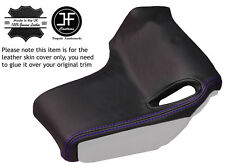 PURPLE STITCH 2X REAR SEAT BELT PILLAR TRIM LEATHER COVER FITS CORVETTE C6 05-13