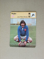 FICHE CHAMPION RUGBY ROMEU CARMAUX CLERMONT MONTFERRAND  EQUIPE FRANCE 1978