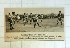 1920 Women's Hockey Match Between Two Paris Training Colleges