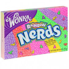 Willy Wonka RAINBOW NERDS Theater Box Candy  5 oz Movie Theater size box