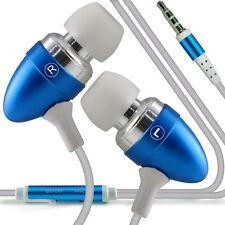 Coppia - Azzurro Vivavoce Auricolari Con Microfono Per Samsung Galaxy S3