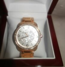 TIMEPIECES BY RANDY JACKSON Swiss Movement Ladies Watch ROSE GOLD TONE NEW