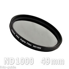 Nd1000 filtro gris 49mm density Grey Tridax pro digital