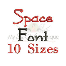Space Alphabet Embroidery Fonts Machine Embroidery Design - IMPFCD48