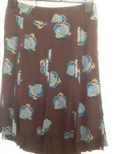 Mexx Size 8 Floaty Floral Print Panelled Lined Skirt Exc Cond