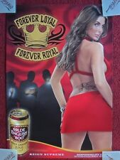 Sexy Girl Beer Poster Olde English OE800 ~ Red Dress & Tramp Stamp REIGN SUPREME