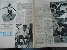 1970 Clipping Le Petit Brésilien pauvre est devenu Pelé ( 2 pages )