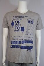 Ripple Junction Mens MEDIUM Doctor Who Wibbly Wobbly Timey Whimey Tardis T-shirt