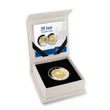 "**NEDERLAND PROOF SET 2015 2 Euro ""30 jaar europese vlag"" PP** In Stock!"