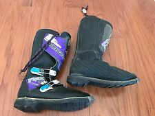 FOX MOTOCROSS MOTORCYCLE BOOTS SIZE 8 BLACK PURPLE