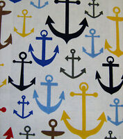 Canvas Fabric Anchors Medium Weight 100% Cotton 140cm Wide Sold Per M FREE P+P