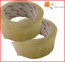 2 x Rolls of Clear Transparent Strong Polyprop Parcel Packing Tape 48mm x 66M