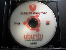 UBUNTU Linux 14.04 LTS 32-Bit* LIVE/Install DVD +Case Sticker +Extras (UPDATED)