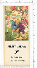 5698 Jersey Cream Soda blotter children blind man's buff bluff Clara M Burd art