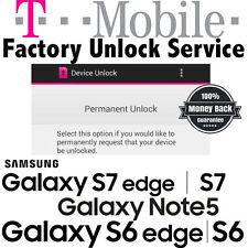 T-Mobile Samsung Galaxy S6 S7 Edge Avant Note 5 Grand Prime Unlock Code Service