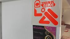 FLUORESCENT THINK BIKE STICKER CAR,VAN,BIKE,BUMPER,BOOT,,MANY COLOURS AVAILABLE