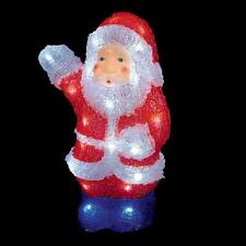 Christmas Decoration 30cm LED Light up Acrylic Santa Indoor/Outdoor