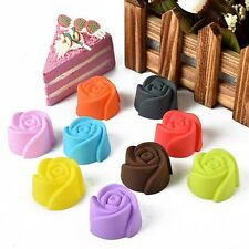 5PC DIY Rose Cake Mold Soap Silicone Mould Candy Chocolate Cake Kitchen