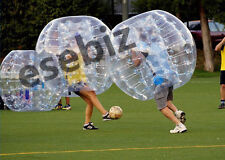 Inflatable Bumper Bubble Balls Body Zorb Ball Soccer Bumper Football 1.5M Blue