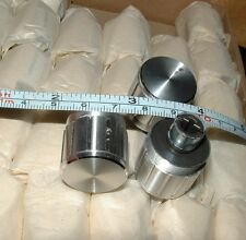 5 vintage aluminium finish knob for 1/4 inch with flat recessed shaft 22mm diam