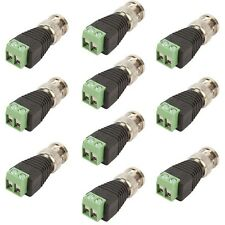 10x CAT5/CAT6 UTP To BNC Coaxial Coax Video Balun Connector Power Adapter CCTV