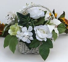 White Roses & Lilies Artificial Flower Arrangement