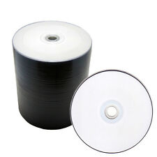 100 pcs 16X White Inkjet HUB Printable Blank DVD-R DVDR Media Disc 4.7GB