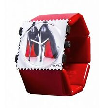 S.T.A.M.P.S. Uhr Stamps HIGH HEELS + Belta RED Rot - der SEXY Klassiker
