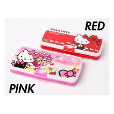 Sanrio Hello Kitty Double Sided Pencil Case Box Whiteboard Marker Eraser - RED