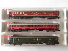 Fleischmann Nr. 8133, 8134 + 8135 2x Mitropa + 1 DRP-Wagen in OVP Spur N  Neu !!