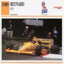 1989 REYNARD 89D Racing Classic Car Photo/Info Maxi Card