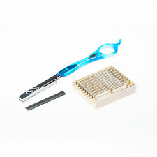 Herder Solingen - Feather Styling Razor Rasiermesser Orginal (Aqua Blue)
