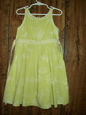 GIRL'S SIZE 5 GREEN LINED SLEEVLESS DRESS SPRING/SUMMER EUC