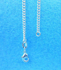 """1PCS 20"""" Wholesale Fashion Jewelry 925 Silver Plated Flat Curb Chain Necklaces"""