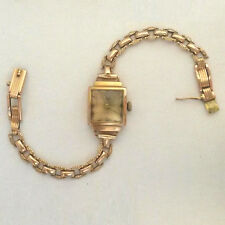 Vintage 583(14K) Rose Gold Russian Made Ladies Watch Luch-Zaria Rare USSR Brand