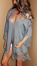 UMGEE Long Fringed Lace Cardigan Tunic Blouse Shirt Jacket Top 1XL NWT Soft Grey