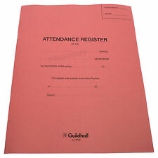 1 x Guildhall School Year Classroom Form Attendance Register Book Twice Daily