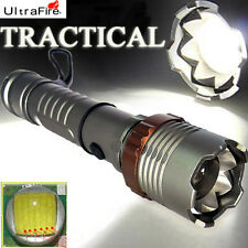 Tactical 3000 LM Adjustable Ultrefire CREE XML Rechargeable LED Flashlight Torch