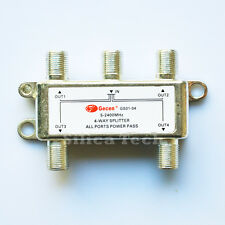 Gecen 4 way splitter 1 in 4 out for satellite receiver GS01-04