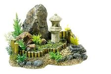 Japanese Zen Garden Rocks & Plants Aquarium Ornament Fish Tank Decoration