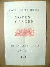 BALLET Programme 1948- THE THREE CORNERED HAT/JOB/SYMPHONIC VARIATIONS