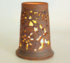 "STONEWARE CANDLE LANTERN BY CHERIE & DIANE 1979 HOLDS CANDLE TO 3 1/2"" DIAMETER"