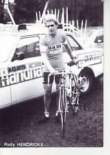 CYCLISME carte RUDY HENDRICKX  (equipe flandria ca va seul )  1979