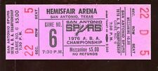 1976 ABA Semi Final Playoffs Game 6 Full Tickets New York Nets at San Spurs NRMT