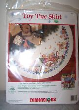 "Dimensions TOY Christmas Tree Skirt Counted Cross Stitch Kit #8462 45"" Round"