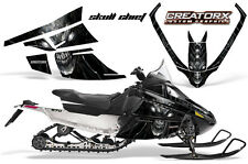 ARCTIC CAT F SERIES SNOWMOBILE GRAPHICS KIT CREATORX DECALS SKULL CHIEF SILVER