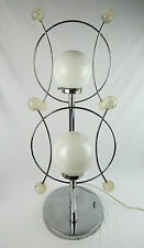 Mid Century Modern Chrome Table Lamp Space Age lucite Antenna Balls Atomic Era