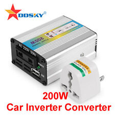 12V DC to AC 220V Car Auto Power Inverter Converter Adapter Adaptor 200W USB